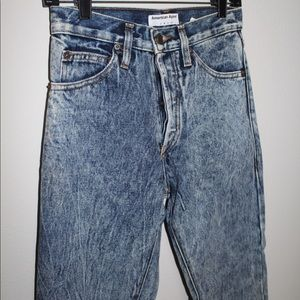 AMERICAN APPAREL acid washed jeans